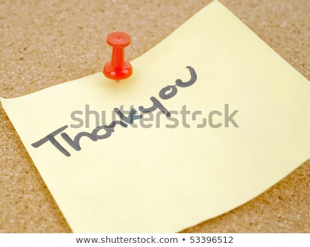 Great image of a thankyou note pinned to a corkboard Stock photo © clearviewstock