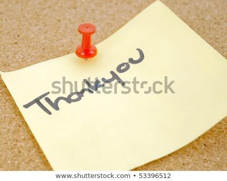Excelente imagem de uma nota de agradecimento fixada em um painel de cortiça Foto stock © clearviewstock