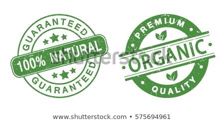 alimentos · orgânicos · selos · grunge · vetor · coleção · comida - foto stock © squarelogo
