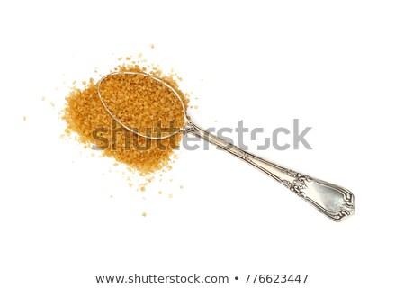 brown sugar in silver spoon stock photo © jirkaejc