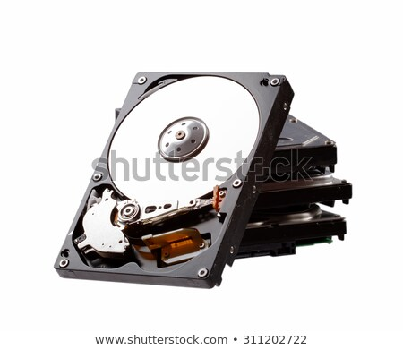 stack of hard drives stock photo © roka