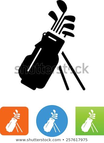 Icona sacca da golf golf esercizio allenamento Foto d'archivio © zzve