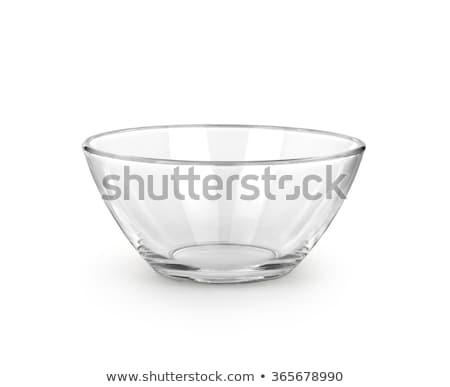 vazio · vidro · tigela · saladeira · branco · comida - foto stock © shutswis
