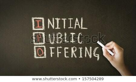 Initial Public Offering Chalk Drawing Stock photo © kbuntu