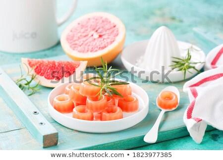 Pomelo postre alimentos madera fondo ensalada Foto stock © M-studio