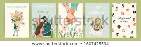 love and relationship, vector  Stock photo © beaubelle