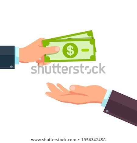 Trésorerie main illustration sac personne financière Photo stock © Krisdog