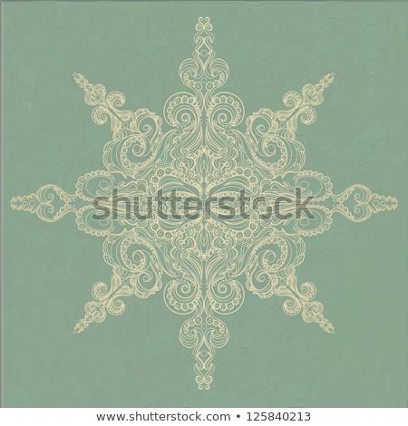 vector vintage  snowflake and grungy texture Stock photo © alexmakarova