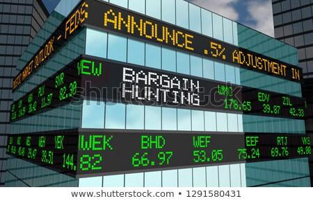 Alkalmi vétel vadászat üzlet pénzügyi persely karakter Stock fotó © Lightsource