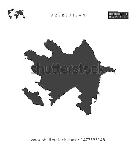 Black Azerbaijan map Stock photo © Volina