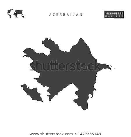 Preto Azerbaijão mapa administrativo fundo asiático Foto stock © Volina