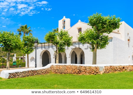 Ibiza Sant Carles de Peralta white church in Balearic Stock photo © lunamarina