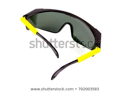 Okulary ochronne odizolowany biały oka twarz Zdjęcia stock © pxhidalgo