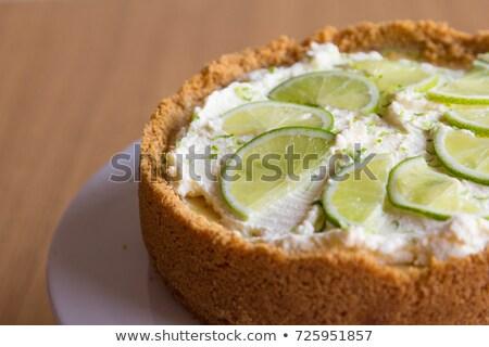 Kulcs citrus torta desszert gyümölcs zöld Stock fotó © susabell