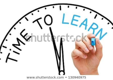 Stock fotó: Képzés · fehér · jelző · kéz · ír · átlátszó