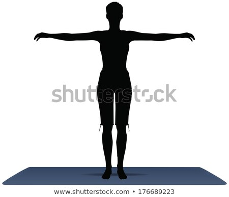 Vector illustration of Yoga position in Default Pose Stock photo © Istanbul2009