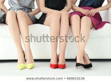 Sihir bacaklar toplama kadın ayakkabı Stok fotoğraf © fotorobs