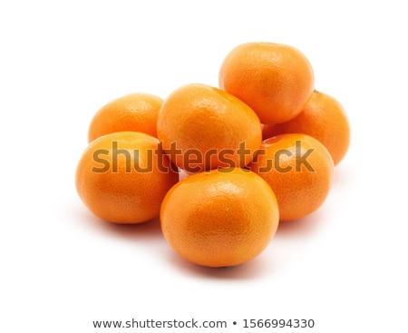 Pelado mandarina frutas aislado blanco Foto stock © natika