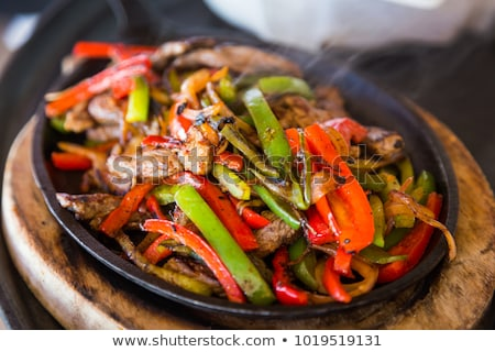 Pane cena carne pepe vegetali pasto Foto d'archivio © M-studio