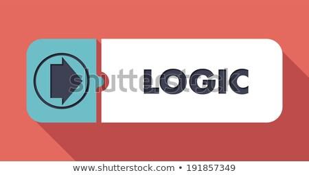 Logika terv gomb hosszú árnyékok tanul Stock fotó © tashatuvango