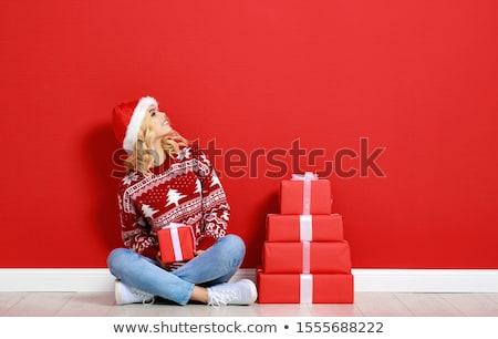 サンタクロース 少女 笑い 美しい 18 年 ストックフォト © aladin66