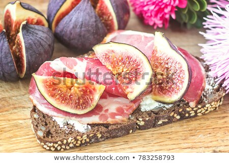 appetizer, fig,cheese and bacon Stock photo © M-studio