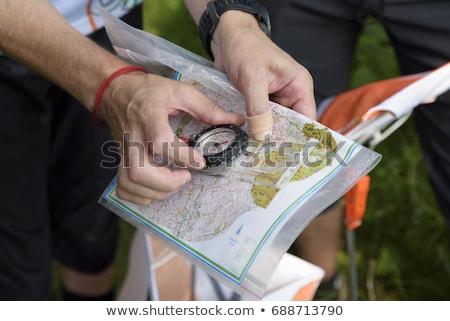 спортивное ориентирование контроль природы лет оранжевый белый Сток-фото © gemenacom