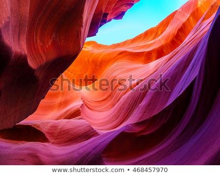 colorido · arenito · desfiladeiro · parque · Utah · EUA - foto stock © emattil