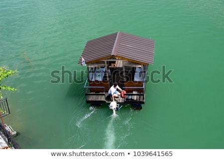 Motor gemi nehir liman su ağaç Stok fotoğraf © alexandre17