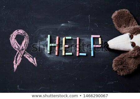 Huiselijk geweld paars bewustzijn lint einde familie Stockfoto © iqoncept