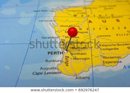 Isolated Western Australia map marker pin Stock photo © speedfighter