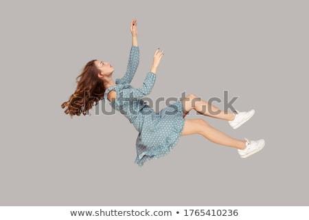 Woman catching something  Stock photo © iko