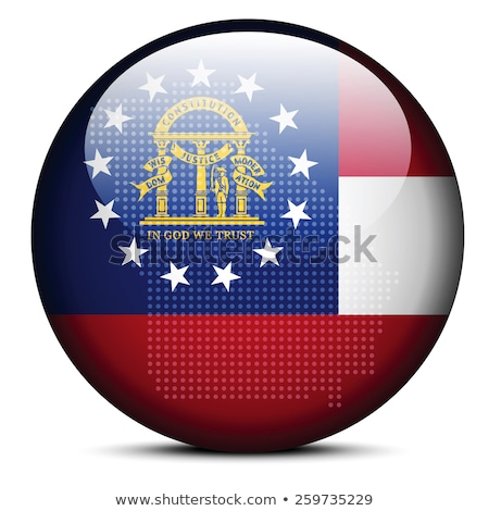 Map with Dot Pattern on flag button of USA Georgia State Stock photo © Istanbul2009