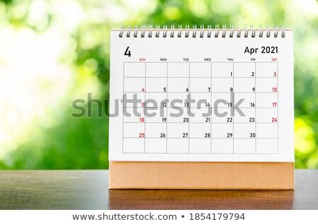 Desk in home office - April  Stock photo © CaptureLight