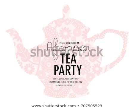 tea party invitation template stock photo © vectorikart
