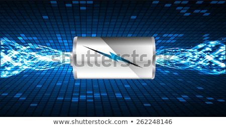 Energy power supply battery blue sparks Stock photo © Anterovium