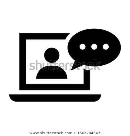 Negócio treinamento webinar ícone projeto isolado Foto stock © WaD