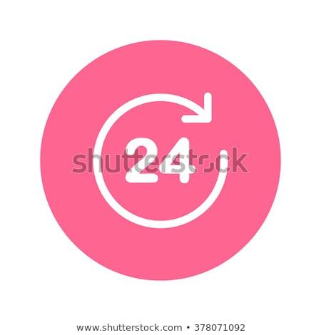 24 servizi rosa vettore pulsante icona Foto d'archivio © rizwanali3d