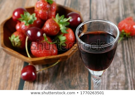 Sliced fresh juicy strawberries rotated Stock photo © Cipariss