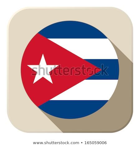 Tablet Cuba vlag afbeelding gerenderd Stockfoto © tang90246