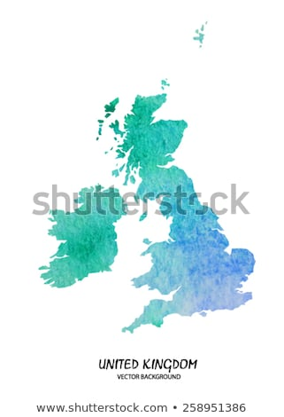 Great Britain Watercolor Map Stock photo © chris2766