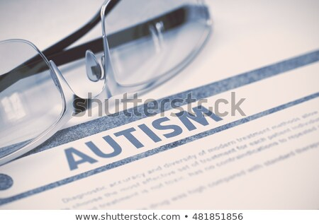 Diagnóstico autismo médico 3d render relatório azul Foto stock © tashatuvango