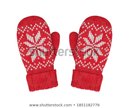 red knitted gloves Stock photo © RuslanOmega