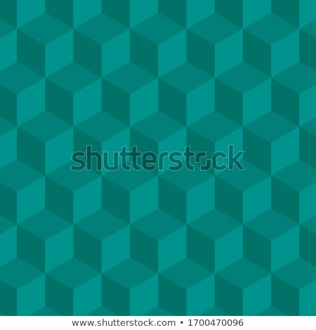 Three D cube green Stock photo © netkov1
