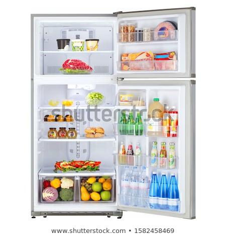 冷蔵庫 孤立した ダブル ドア 冷凍庫 ストックフォト © shutswis