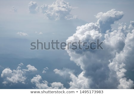 White cumulus clouds  Stock photo © digoarpi