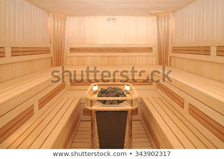 wooden sauna cabin Stock photo © artfotoss