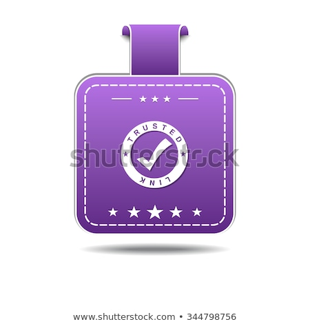 Trusted Link Violet Vector Icon Design Stock photo © rizwanali3d