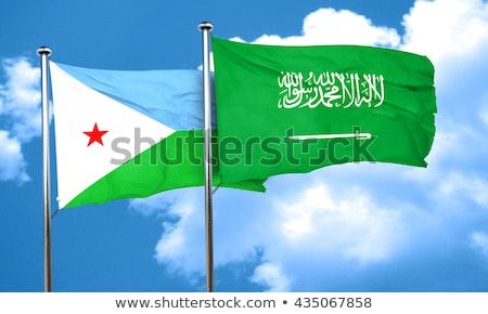 Saudi Arabia and Djibouti Flags Stock photo © Istanbul2009