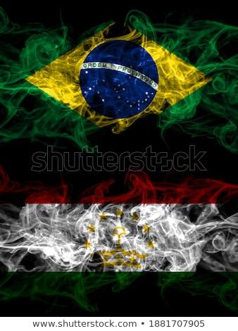 Brasil Tajiquistão bandeiras quebra-cabeça isolado branco Foto stock © Istanbul2009
